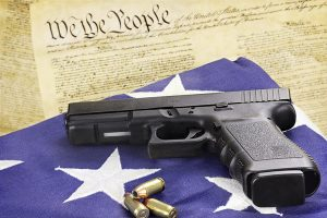 gun constitution flag
